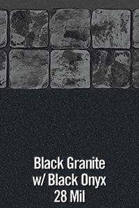 Black Granite with Black Onyx