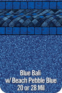 Blue Bali with Beach Pebble Blue
