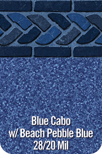 Blue Cabo with Beach Pebble Blue