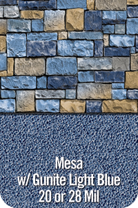Mesa with Gunite Light Blue