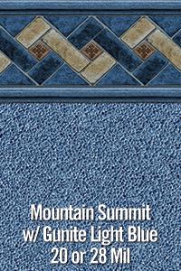 Mountain Summit with Gunite Light Blue
