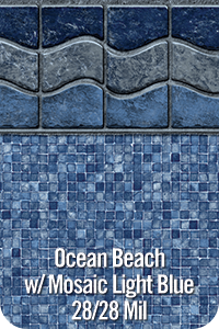 Ocean Beach with Mosaic Light Blue