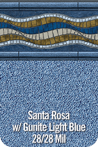 Santa Rosa with Gunite Light Blue